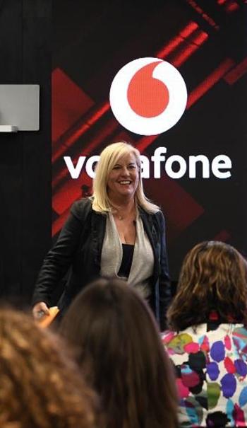 Start Now Founder Melissa Jenner presenting at Vodafone