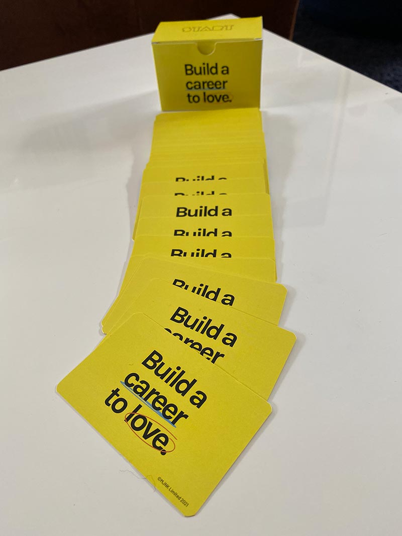 Build a Career to Love Personal Value Cards - for individuals, groups, and teams