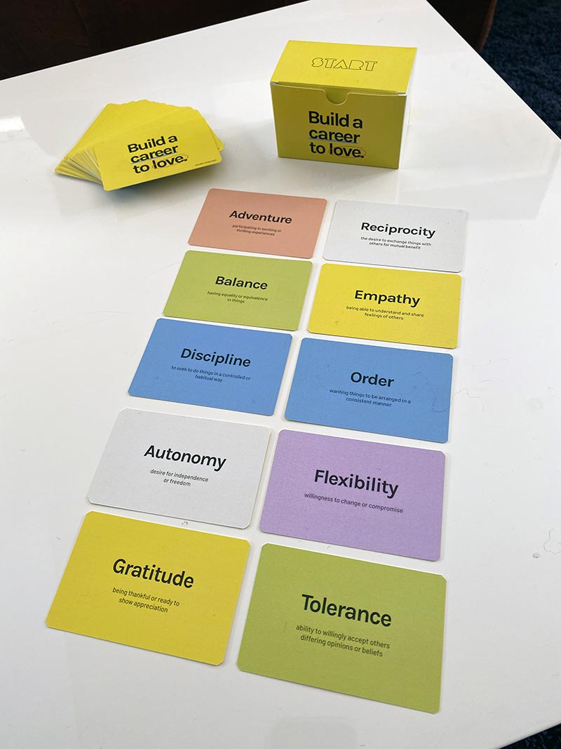 Build a Career to Love Value Cards - for individuals, groups, and teams